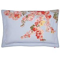 Joules Hollyhock Floral 100% Cotton Percale Oxford Pillowcase