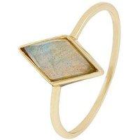 Accessorize Accessorize Labradorite Diamond Shaped Ring, One Colour, Size M, Women