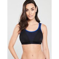 Pour Moi Energy Non Wired Full Cup Sports Bra (Second Sizes) - Black Cobalt, Black/Cobalt, Size 32F, Women