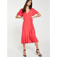 Whistles Whistles Abrigail Frill Wrap Dress