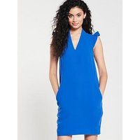 Whistles Safia Crepe Dress - Blue