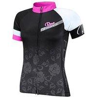 Force Rose, Ladies Cycling Jersey, Black/Pink, Black/Pink, Size Xl, Women