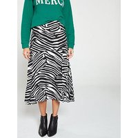 Whistles Zebra Print Skirt - Black White