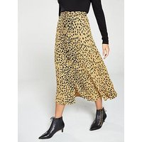 Whistles Animal Print Midi Skirt - Cream