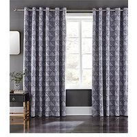 Product photograph showing Catherine Lansfield Art Deco Eyelet Curtains