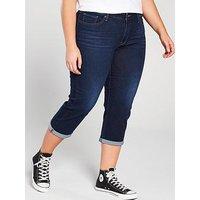 Levi's Plus Shaping Capri Jeans, Dark Blue Ocean Plus, Size 20, Inside Leg 28, Women