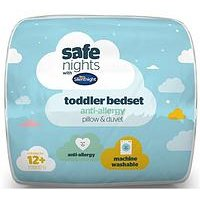Product photograph showing Silentnight Silentnight 9 Tog Toddler Cot Quilt Pillow Set