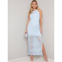 Chi Chi London Jen Lace Bodycon Dress - Blue