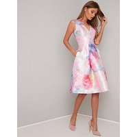 Chi Chi London Ohanna V-Neck 2-In-1 Dress - Pink