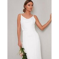 Chi Chi London Bridal Mariam Slinky Maxi Dress - White