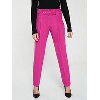 V by Very Buckle Trouser, Pink, Size 16, Women