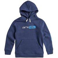 Animal Boys Roadie Logo Hoodie - Nautical Blue, Nautical Blue, Size 11-12 Years