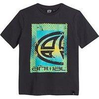 Animal Boys Tabo Short Sleeve Graphic T-Shirt - Black, Black, Size 7-8 Years
