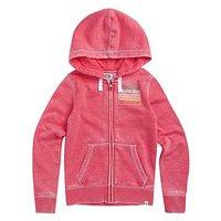 Animal Girls Sunset Zip Through Hoodie - Pink, Pink, Size Age: 11-12 Years, Women