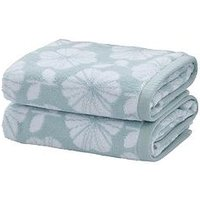 Product photograph showing Catherine Lansfield Retro Floral Towel Range - 2 Hand Towels