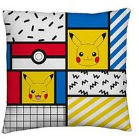 Product photograph showing Pokemon Memphis Square Cushion