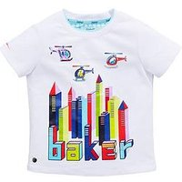 Baker by Ted Baker Toddler Boys Building T-Shirt - White, White, Size 4-5 Years