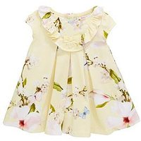 Baker by Ted Baker Baby Girls Harmony Jersey Dress - Yellow, Yellow, Size 12-18 Months