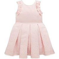 Baker by Ted Baker Girls Scatter Crystal Frill Occasion Dress - Light Pink, Light Pink, Size 13 Years, Women