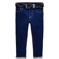 Baker by Ted Baker Boys Cobalt Jeans with Belt - Blue, Blue, Size Age: 5 Years