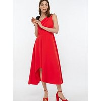 Monsoon Peri One Shoulder Midi Dress - Red