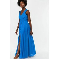 Monsoon Sinead Bow Back Maxi Dress - Blue