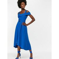 Monsoon Sofia Fit And Flare Midi Dress - Blue