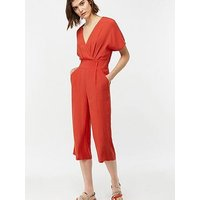 Monsoon Ginny Jumpsuit - Red (Rust), Rust, Size 18, Women