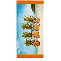 Product photograph showing Catherine Lansfield Pineapple Sunglasses 100 Cotton Beach Towel