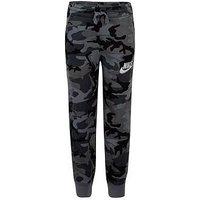 Boys, Nike NSW Club Fleece AOP Pants - Black Camo, Black Camo, Size 6-7 Years
