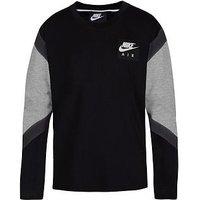 Boys, Nike Air LS Top - Black, Black, Size 5-6 Years