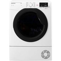 Hoover Link Hlc9Dke 9Kg Load Aquavision Sensor Condenser Tumble Dryer With One Touch - White/Black
