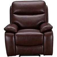 Product photograph showing Hasting Real Leather Faux Leather Manual Recliner Armchair