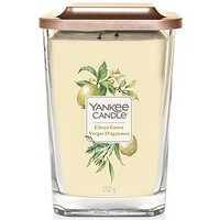 Product photograph showing Yankee Candle Elevation Collection Ndash Citrus Grove Large 2-wick Square Candle