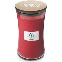 Product photograph showing Woodwick Large Hourglass Candle Ndash Currant