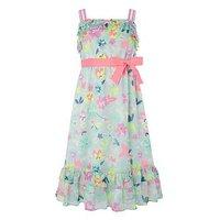 Monsoon Lively Maxi Dress, Mint, Size 5 Years, Women
