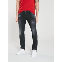 Replay Anbass Slim Fit Hyperflex® Jeans - Medium Grey, Medium Grey, Size 38, Length Regular, Men