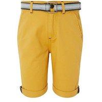 Boys, Monsoon CHARLIE MUSTARD CHINO SHORT, Mustard, Size 8 Years