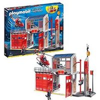 Playmobil Playmobil City Action Fire Station With Fire Alarm