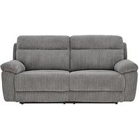 Product photograph showing Baron Fabric 3 Seater Manual Recliner Sofa