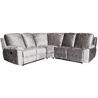Product photograph showing Castille Fabric Manual Recliner Corner Group Sofa
