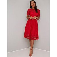 Chi Chi London Lavinia Dress - Red