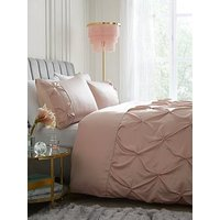 Product photograph showing Michelle Keegan Home Madison Pintuck Duvet Cover Set