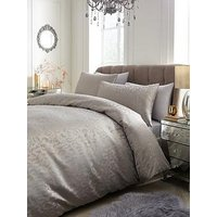 Product photograph showing Adriana Metallic Animal Jacquard Duvet Cover Set
