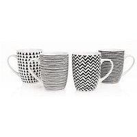 Product photograph showing Sabichi Geo Sketch Mugs Ndash Set Of 4
