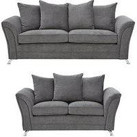 Product photograph showing Dury 3 2 Seater Sofa
