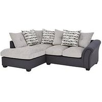 Product photograph showing Quartz Fabric Compact Left Hand Scatter Back Corner Chaise Sofa