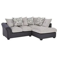 Product photograph showing Quartz Fabric Compact Right Hand Scatter Back Corner Chaise Sofa