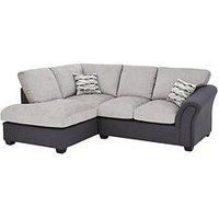 Product photograph showing Quartz Fabric Compact Left Hand Standard Back Corner Chaise Sofa