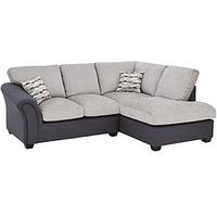 Product photograph showing Quartz Fabric Compact Right Hand Standard Back Corner Chaise Sofa